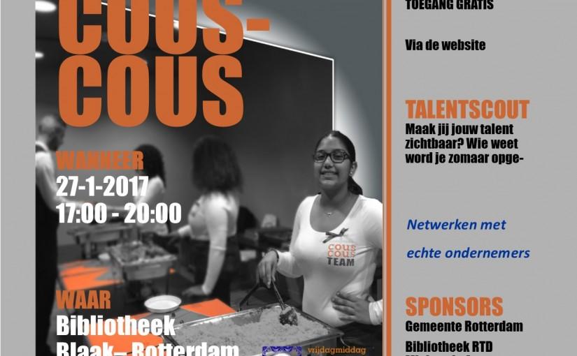Iedere laatste vrijdag van de maand… Tijd voor Vrijdagmiddag Couscous
